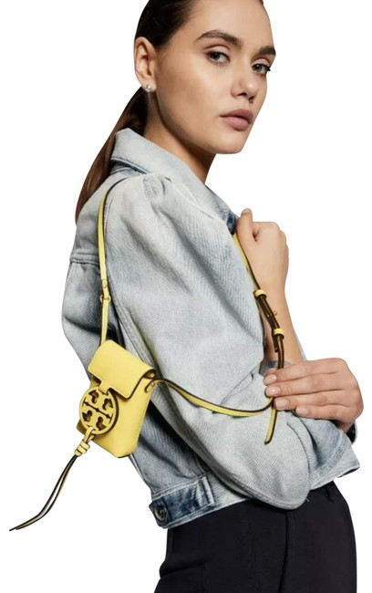Item - Miller Nano Electric Yellow Smooth Leather Cross Body Bag