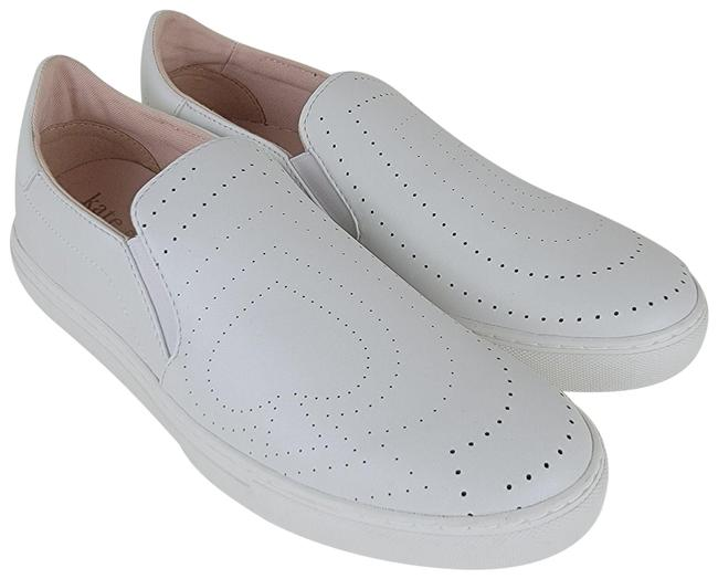 Item - White Azores Perforated Leather Slip On Sneakers Flats Size US 8 Regular (M, B)