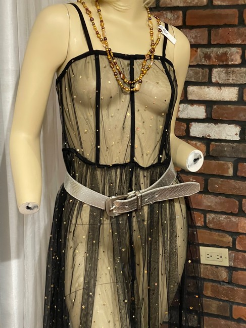 Item - Black See Through Long Cocktail Dress Size 4 (S)