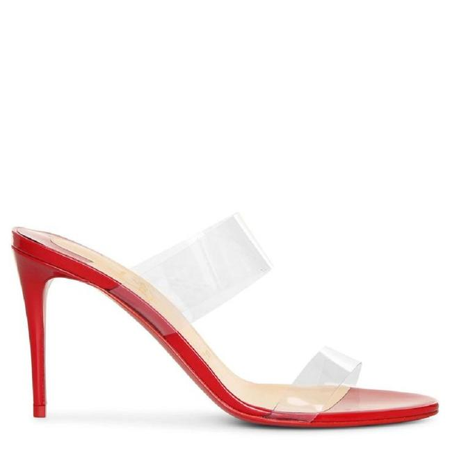 Item - Red Just Nothing 85mm Pvc Clear 85mm Strap Patent Clear Mules Sandals Size EU 39.5 (Approx. US 9.5) Regular (M, B)