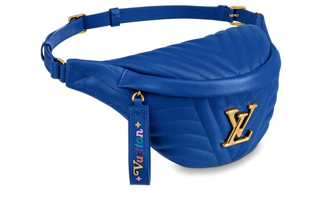 Item - Bumbag New Wave Blue Neon Leather Cross Body Bag