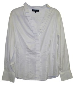 Jones New York Brand With Tags Button Down Shirt White