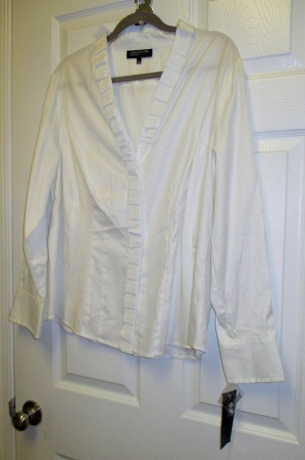 Jones New York Brand With Tags Shirt Xl Button Down Shirt White