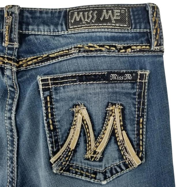 Item - Freesia (Medium Wash) Distressed The M Series X1008bz Destroyed Blown Out Denim Boot Cut Jeans Size 31 (6, M)