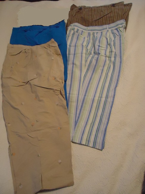 Other Capris blue, taupe, tans