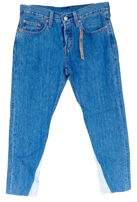 Item - Blue 501 Taper Cropped Non Stretch Skinny Jeans Size 27 (4, S)