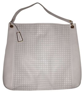 BCBGMAXAZRIA Perforated Leather Detail Shoulder Bag