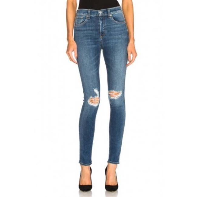 Item - Blue High Rise Distressed Knee Skinny Jeans Size 26 (2, XS)