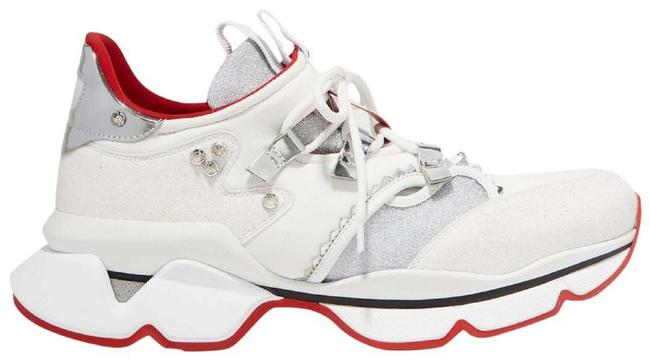 Item - White Red Runner Donna Glitter Spiked Sneakers Size EU 38 (Approx. US 8) Regular (M, B)