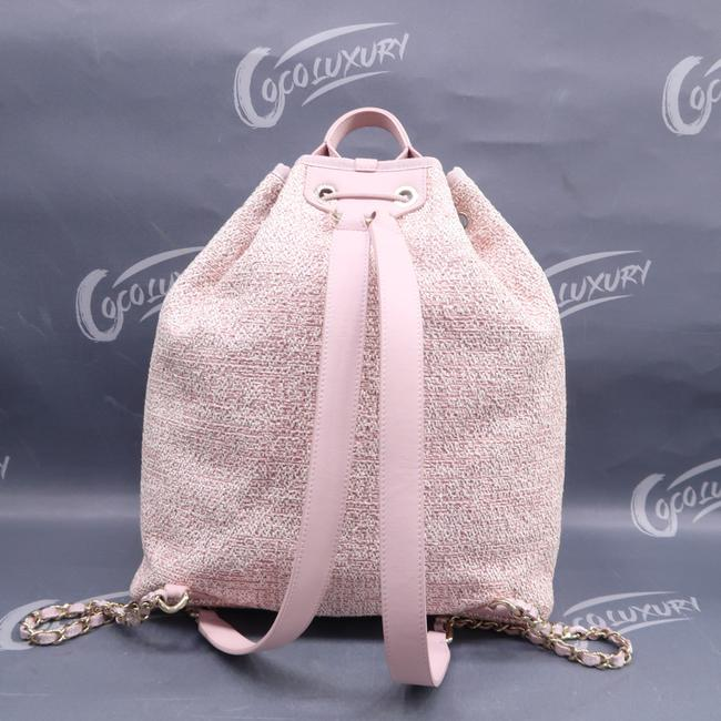 Chanel Deauville Bucket Pink Canvas Backpack Chanel Deauville Bucket Pink Canvas Backpack Image 2