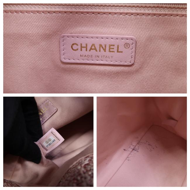 Chanel Deauville Bucket Pink Canvas Backpack Chanel Deauville Bucket Pink Canvas Backpack Image 11