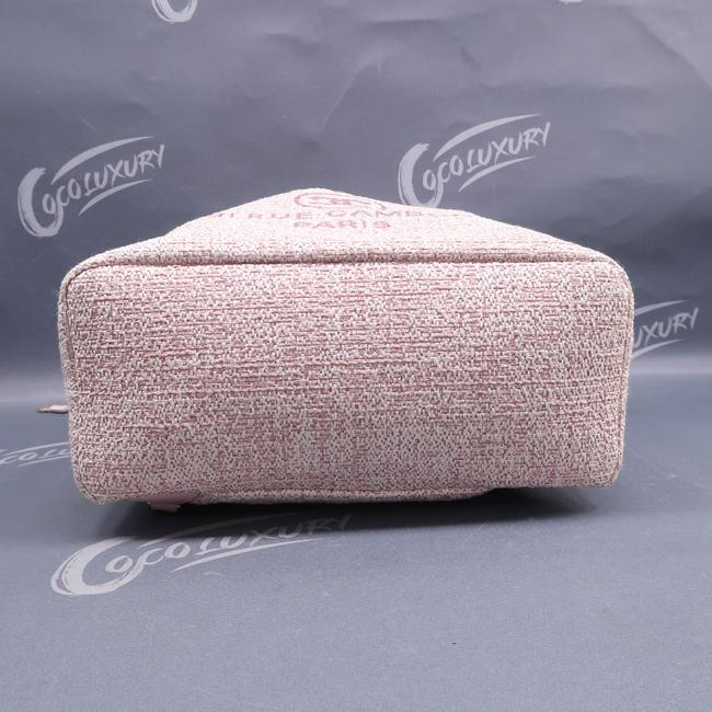 Chanel Deauville Bucket Pink Canvas Backpack Chanel Deauville Bucket Pink Canvas Backpack Image 4