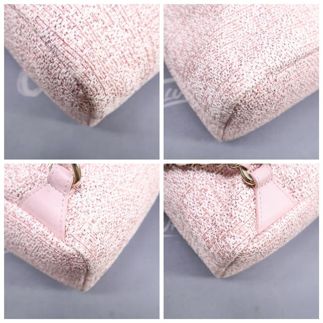 Chanel Deauville Bucket Pink Canvas Backpack Chanel Deauville Bucket Pink Canvas Backpack Image 5