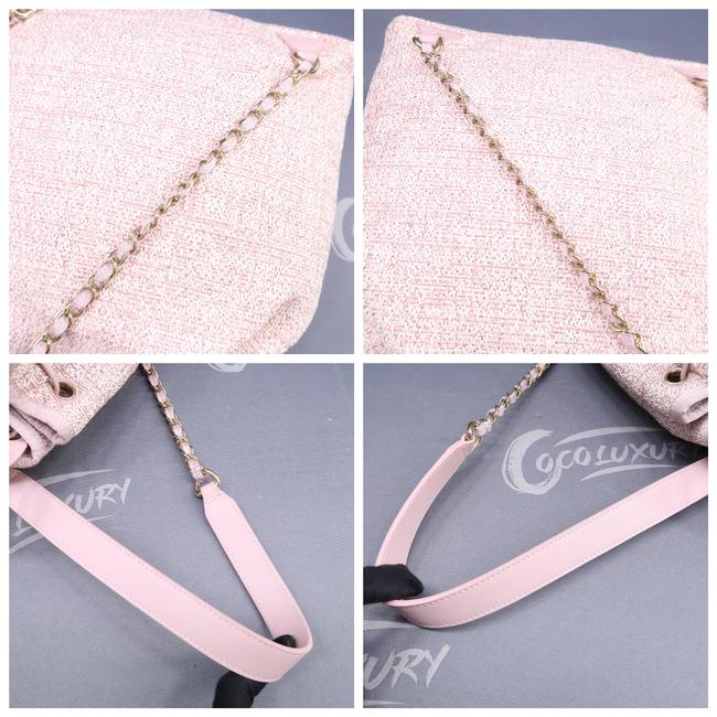 Chanel Deauville Bucket Pink Canvas Backpack Chanel Deauville Bucket Pink Canvas Backpack Image 7