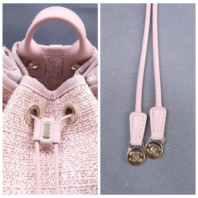 Chanel Deauville Bucket Pink Canvas Backpack Chanel Deauville Bucket Pink Canvas Backpack Image 8