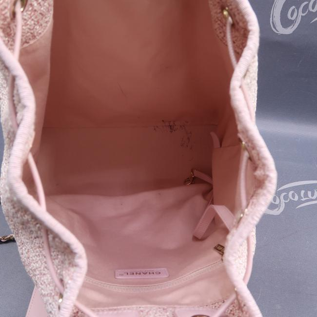 Chanel Deauville Bucket Pink Canvas Backpack Chanel Deauville Bucket Pink Canvas Backpack Image 10