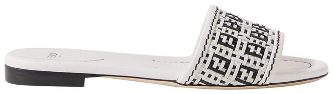 Item - White Woven Leather Sandals Size EU 41.5 (Approx. US 11.5) Regular (M, B)