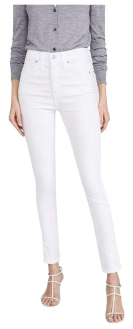 """Item - White Light Wash 10"""" High Rise Skinny Jeans Size 24 (0, XS)"""