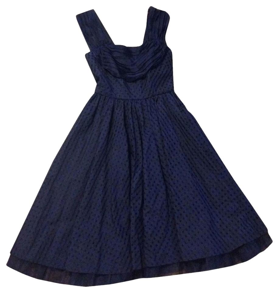 Anthropologie navy girls from savoy gingham fit and flare vintage anthropologie 1950s retro fitted waist tulle full skirt dress ombrellifo Images