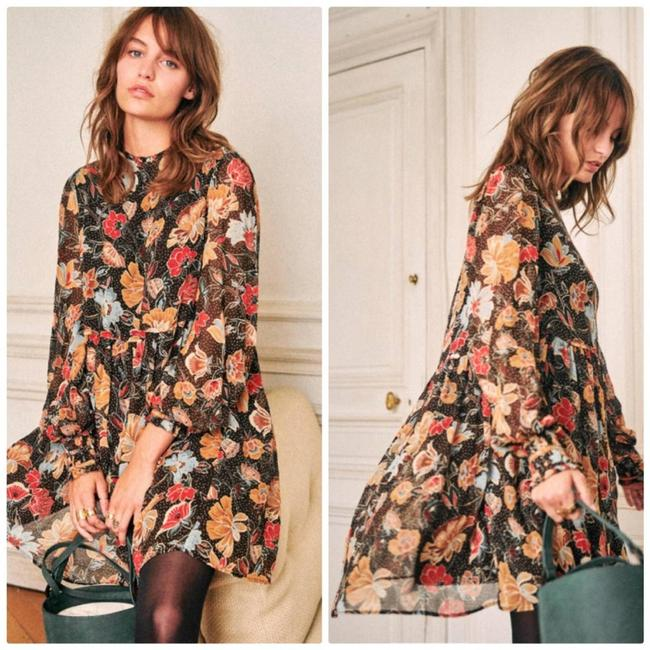 Item - Brown Odile Printed Flowers Honey 36 / New Casual Maxi Dress Size 4 (S)