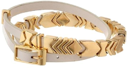 House of Harlow 1960 House of Harlow 1960 Gold-Plated and Leather Wrap Bracelet, 15""