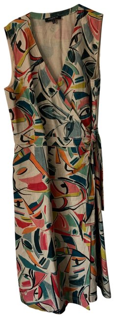 Item - Multi Colored Mid-length Work/Office Dress Size 8 (M)
