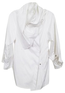Saks Fifth Avenue Unique Wrap Top White