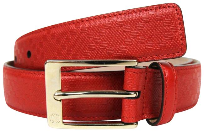 Item - Red Diamante Leather with Square Buckle 115/46 345658 6523 Belt
