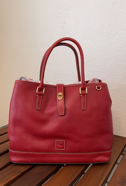 Item - Perry Red Pebble Grain Leather Satchel