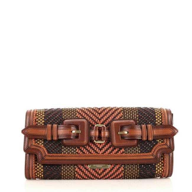 Item - Margot Woven Multicolor Leather Clutch