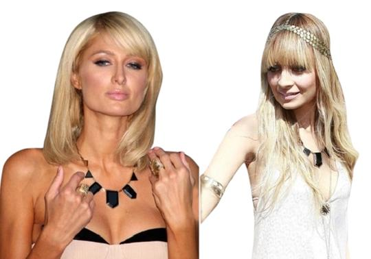 House of Harlow 1960 House of Harlow 1960 Nicole Richie gold plated black leather station necklace