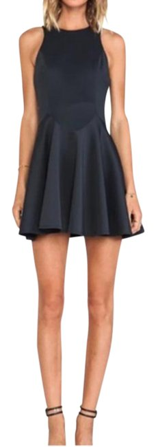Item - Petrol Navy C/Meo Hold Out Skater Short Cocktail Dress Size 0 (XS)