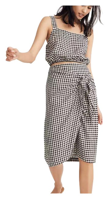 Item - Black Women's Gingham Penny Skirt Large New Cover-up/Sarong Size 12 (L)
