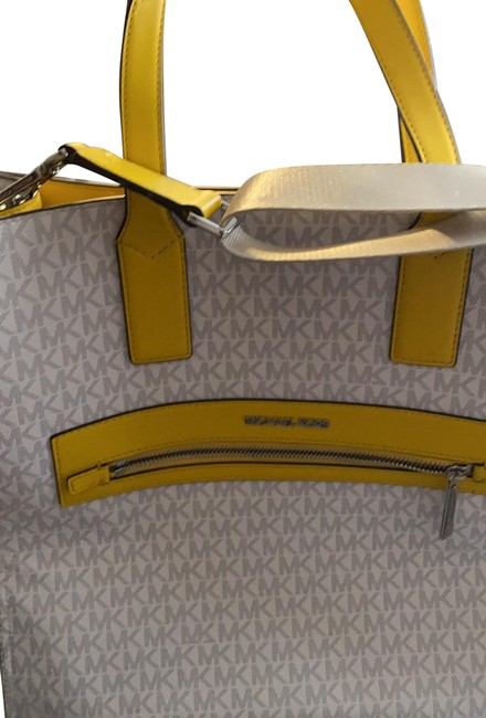 Item - Hand Yellow and Gray Lambskin Leather Cross Body Bag