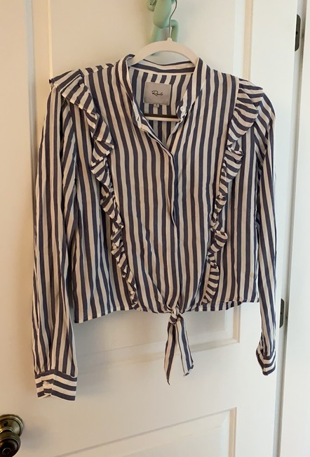 Item - Blue and White Blouse Size 6 (S)