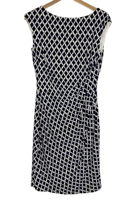 Item - Black and White Mid-length Work/Office Dress Size 8 (M)