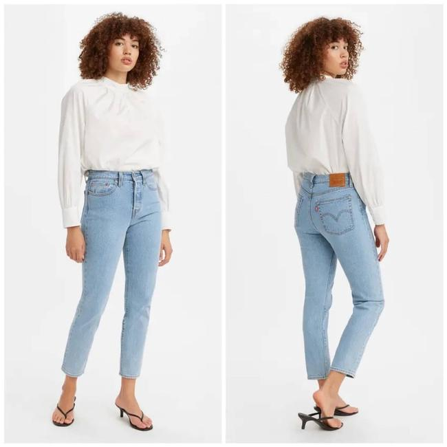 Item - Blue Light Wash Wedgie High-rise Skinny Jeans Size 30 (6, M)