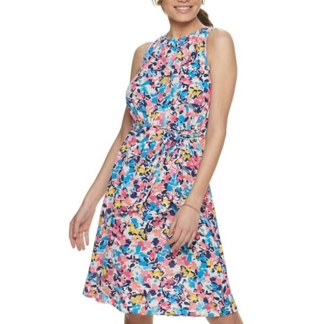 Item - Multicolor Floral Sleeveless Short Casual Dress Size 2 (XS)