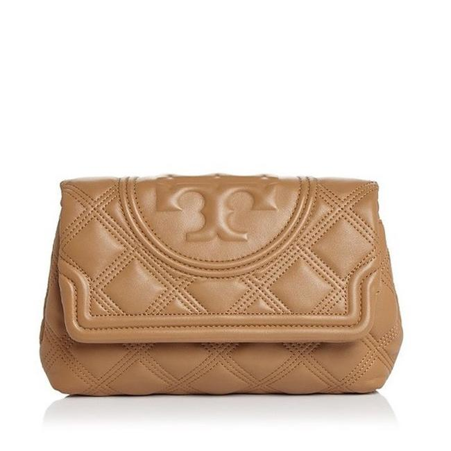 Item - Fleming Quilted Soft Beige Lambskin Leather Clutch