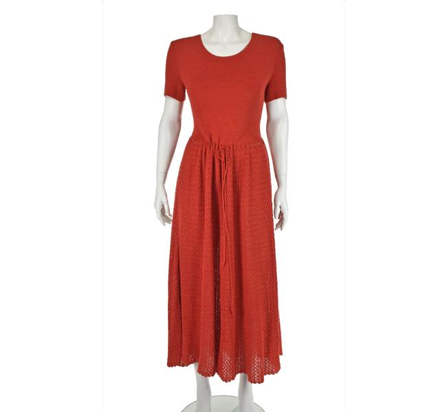 Item - Red Soft Cotton Knit Long Casual Maxi Dress Size 6 (S)