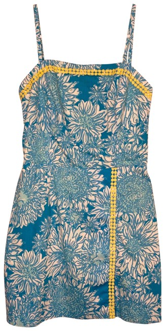 Item - Blue/White with Yellow Details Romper/Jumpsuit
