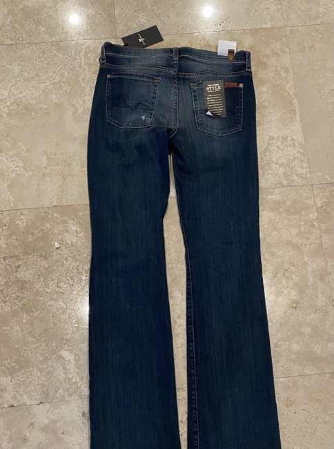 7 For All Mankind Blue Distressed Boot Cut Jeans Size 30 (6, M) 7 For All Mankind Blue Distressed Boot Cut Jeans Size 30 (6, M) Image 3