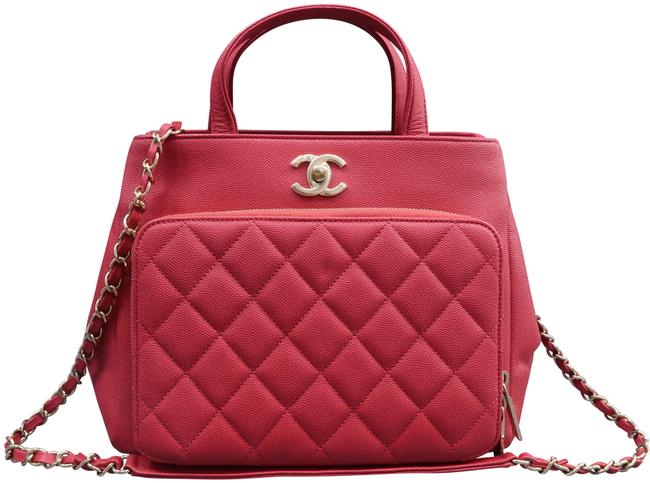 Item - Bucket Bag Small Business Affinity Red Caviar Satchel