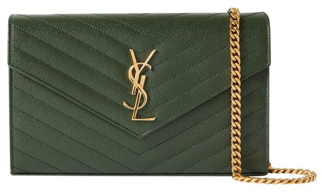 Item - Shoulder Monogramme Mini Quilted Textured-leather Green Cross Body Bag