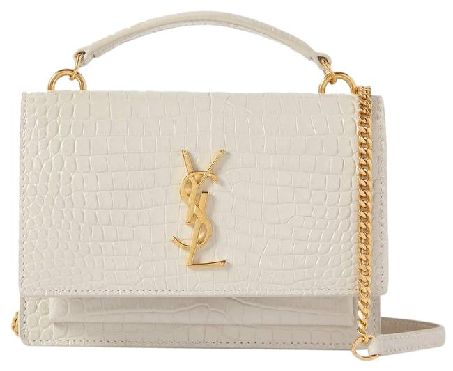 Item - Shoulder Sunset Small Croc-effect Leather Off-white Cross Body Bag