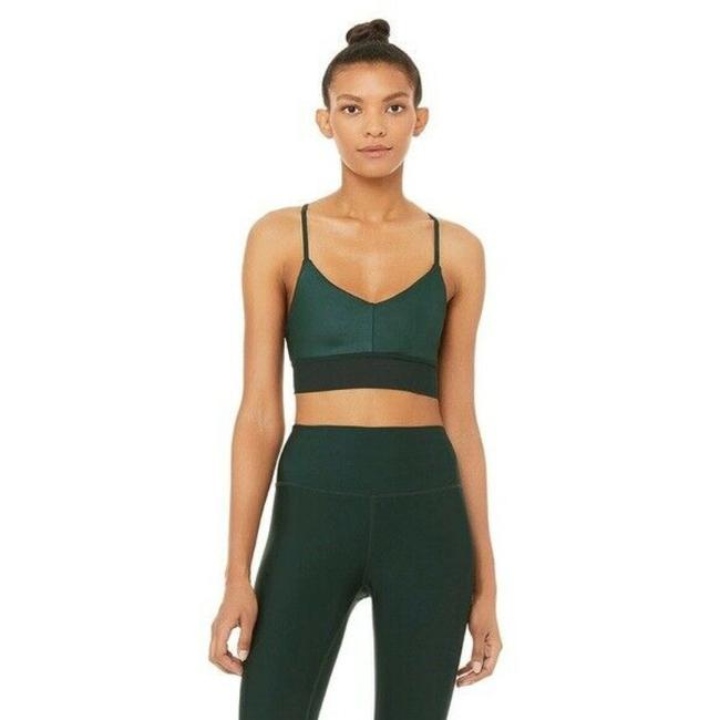 Item - Green Yoga Lush Strap Magic In Forest Glossy Activewear Sports Bra Size 8 (M, 29, 30)