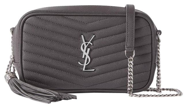 Item - Monogram Loulou Shoulder Mini Quilted Textured-leather Dark Gray Cross Body Bag
