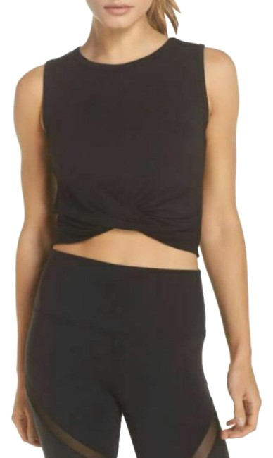 Item - Black Yoga Cover In Activewear Top Size 4 (S)
