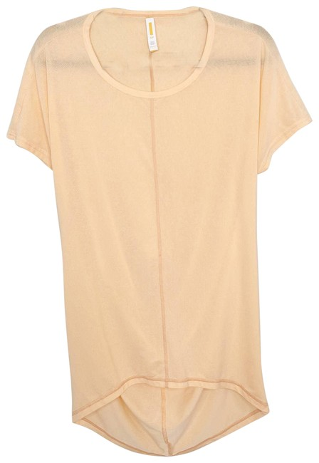 Item - Orange Back Sleeve Workout High Creamsicle Activewear Top Size 4 (S)