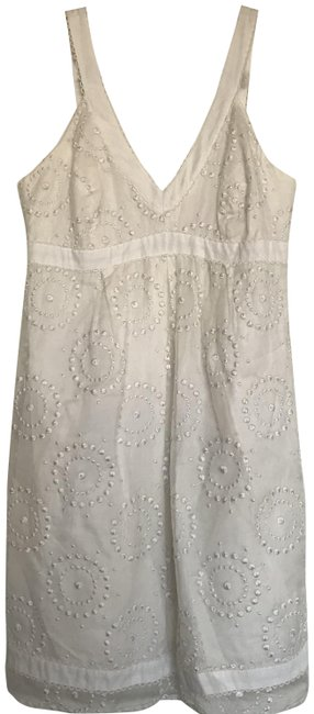 Item - White Unknown Mid-length Cocktail Dress Size 6 (S)